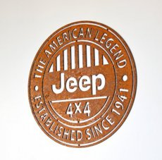 Jeep Logo Rust Steel Jeep Logo Rust Steel