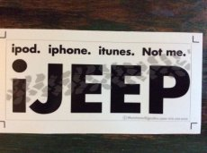 Sticker iJeep White